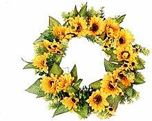 display08 Künstliche Rattan Sonnenblume Girlande