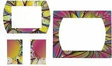 Displays2go 4-teiliges Magnet-Bilderrahmen für