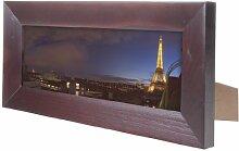 Displays2go Panorama-Bilderrahmen, 8,9 x 25,4 cm,