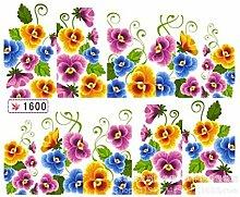 Distinct® 1sheets / lot Schöne Blumen-Nagel-Wasser-Aufkleber-Abziehbild-Wassertransfer Nagel-Kunst-Aufkleber
