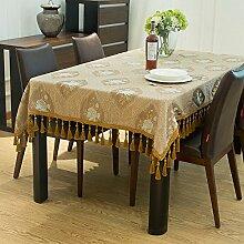 DIT Europäische Luxus Tischdecke Rechteckige