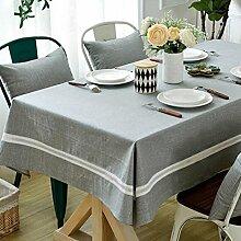 DIT Leinen & Baumwolle Einfarbig Tischdecke,
