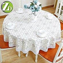 DIT Runder Abendtisch Tischdecke PVC Wasserdicht