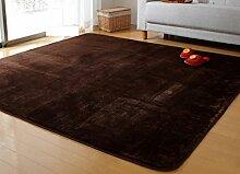 DiTan Wu Continental minimalistischen Wohnzimmer Couchtisch Teppich Schlafzimmer Nachtdecke korallenrote Vliesdecke Erker Teppichboden ( farbe : 3# , größe : 120*170cm )