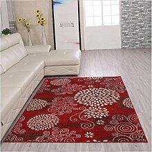 DiTan Wu Einfache, moderne Stil gemusterten Teppichen mit neuen zu Hause bleiben Wohnzimmer Couchtisch Teppich Schlafzimmer Teppich-Bett-Zimmer Teppichboden ( farbe : A , größe : 700mm*1400mm )