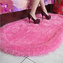 DiTan Wu Oval Bett Decke Verschlüsselung dicker elastisches Garn Liangsi komfortables Schlafzimmer Teppich Rutsch Yoga Tanzmatte Schalldämmung Teppichboden ( farbe : 1# , größe : 71cm*141cm )