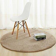 DiTan Wu Rund Wohnzimmer Couchtisch Bett Schlafzimmer Teppich minimalistischem Computer zu Hause Stuhl Verdickung feste Farbe Teppich Teppichboden ( farbe : 5# , größe : 80cm )