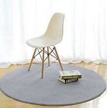 DiTan Wu Rund Wohnzimmer Couchtisch Bett Schlafzimmer Teppich minimalistischem Computer zu Hause Stuhl Verdickung feste Farbe Teppich Teppichboden ( farbe : 6# , größe : 120cm )