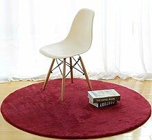 DiTan Wu Rund Wohnzimmer Couchtisch Bett Schlafzimmer Teppich minimalistischem Computer zu Hause Stuhl Verdickung feste Farbe Teppich Teppichboden ( farbe : 1# , größe : 60 )