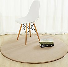 DiTan Wu Rund Wohnzimmer Couchtisch Bett Schlafzimmer Teppich minimalistischem Computer zu Hause Stuhl Verdickung feste Farbe Teppich Teppichboden ( farbe : 4# , größe : 80cm )
