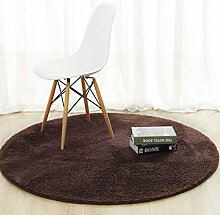 DiTan Wu Rund Wohnzimmer Couchtisch Bett Schlafzimmer Teppich minimalistischem Computer zu Hause Stuhl Verdickung feste Farbe Teppich Teppichboden ( farbe : 4# , größe : 140cm )