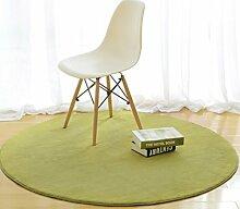 DiTan Wu Rund Wohnzimmer Couchtisch Bett Schlafzimmer Teppich minimalistischem Computer zu Hause Stuhl Verdickung feste Farbe Teppich Teppichboden ( farbe : 2# , größe : 80cm )