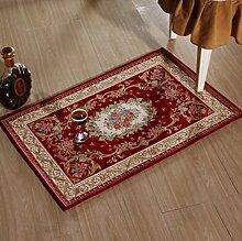 DiTan Wu Teppich kreative europäischen mode rechteckigen teppich wohnzimmer kaffee tisch bett nach hause rutschfeste teppich Teppichboden ( Farbe : A , größe : 60x90cm )