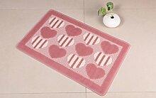 DiTan Wu Teppich kreative europäischen mode rechteckigen teppich wohnzimmer couchtisch nachttisch bad hause rutschfeste teppich Teppichboden ( Farbe : D , größe : 60x90cm )
