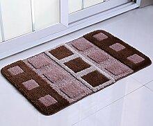 DiTan Wu Teppich moderne kreative Mode rechteckige Eingangstreppen Schlafzimmer Nachttisch Badezimmer rutschfeste Teppich Teppichboden ( Farbe : D , größe : 60×90CM )