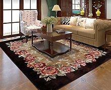 DiTan Wu Teppichmatte / Europäische Teppich / Luxus Couchtisch / Schlafzimmer Teppich / Rechteckige Rose Teppich / Hochzeit Bett Teppichboden / Verdickte Wohnzimmerteppich Teppichboden ( farbe : 2# , größe : 150*200cm )