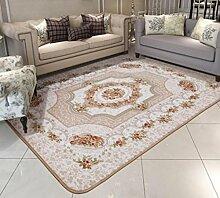 DiTan Wu Teppichmatte / Europäische Teppich Sofa Schlafzimmer mit Teppich Hochwertige Teppich / Einfache, moderne Teppich / Wohnzimmer Teppich / Rechteckige Teppich / Schlafzimmer Hochzeit Raum voller Teppich / Couchtisch Teppich Teppichboden ( farbe : 1# , größe : 100*150cm )