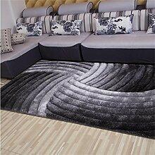 DiTan Wu Ultrafeine Teppich 3D Liangsi Front Wohnzimmer Couchtisch Teppich Schlafzimmer Teppich einfachen pastoralen Stil Teppichboden ( Farbe : C1 , größe : 1600*2300mm )
