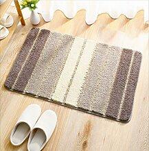 DiTan Wu Weich flauschigen Teppich absorbiert sofort Badezimmer rutschfeste Teppichboden Teppichboden ( Farbe : D , größe : 50x80cm )