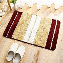 DiTan Wu Weich flauschigen Teppich absorbiert sofort Badezimmer rutschfeste Teppichboden Teppichboden ( Farbe : C , größe : 50x80cm )