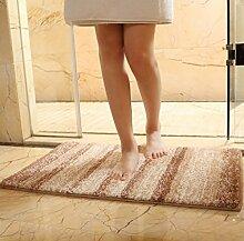 DiTan Wu Weiche und flauschige ultra-dicke sofort absorbieren Wassertropfen modernen Stil mehrfarbigen Badezimmer Hause Teppich Teppichboden ( Farbe : A , größe : 60x90cm )
