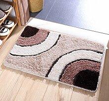 DiTan Wu Weichen flauschigen Teppich absorbieren sofort Feuchtigkeit Bad nach Hause rutschfeste Teppich Teppichboden ( Farbe : B , größe : 60x90cm )