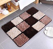 DiTan Wu Weichen flauschigen Teppich absorbieren sofort Feuchtigkeit Bad nach Hause rutschfeste Teppich Teppichboden ( Farbe : D , größe : 50x80cm )