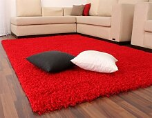 Diva Shaggy Rot Hochflor Langflor Teppich UNI Red