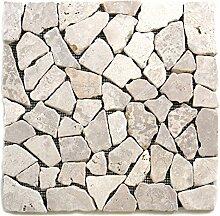 Divero 11 Fliesenmatten Naturstein Mosaik aus