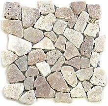 Divero 11 Fliesenmatten Naturstein Mosaik Marmor
