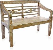 DIVERO 2-Sitzer stabile antike Gartenbank 115 cm