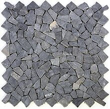 Divero 4 Fliesenmatten Naturstein Mosaik aus