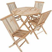 Divero 5 TLG. Balkonset Gartenset Garten-Set