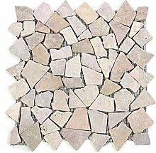Divero 9 Fliesenmatten Naturstein Mosaik aus