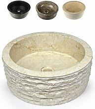 Divero Designbecken Marmor Naturstein