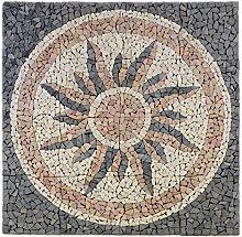 Divero Fliesen Rosone Sonne Naturstein Mosaik