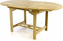 Divero Gartentisch Esstisch Balkontisch Holz Teak