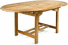 DIVERO GL05520 Ovaler ausziehbarer Gartentisch