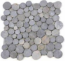 Divero HF55537 11 Fliesenmatten Naturstein Mosaik