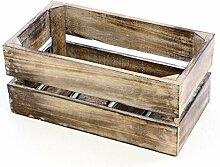 Divero Vintage Holzkiste Braun geflammt Staubox