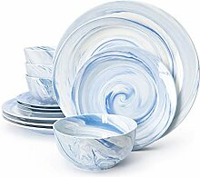 Divitis Home Fusion Porzellan-Geschirr-Set,