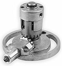 DIWARO® K004 Rolladengetriebe | Untersetzung 1,2:1 | für rechts & links | Antrieb 6mm Innensechskant | Kurbelgetriebe, Kegelradgetriebe für SW 40 Nutrohr im Rolladenkasten
