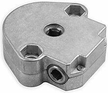 DIWARO® S038 Rolladengetriebe 6:1 Rechts, Kurbelgetriebe, Kegelradgetriebe, Schneckengetriebe für Rolladen Stahlwelle im Rolladenkasten …