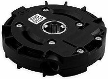 DIWARO® S051 Rolladengetriebe 6:1 Kurbelgetriebe, Kegelradgetriebe, Schneckengetriebe mit Keilwellenprofil für Rolladen Stahlwelle im Rolladenkasten, Getriebe für beidseitige Verwendung geeigne