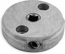 DIWARO® S057 Rolladengetriebe 4,33:1 Links, Kurbelgetriebe, Kegelradgetriebe, Schneckengetriebe für Rolladen Stahlwelle im Rolladenkasten …