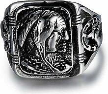 Dixinla Ring Edelstahl, Europäischen Retro-Mode