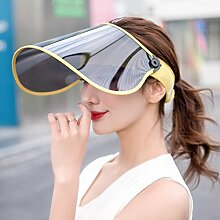 Dixinla Visor Hut Anti-UV Licht einstellbar Sonne Kappe Gesicht Sonnenschutz innen oben