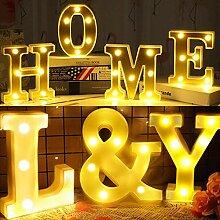 DIY 3D Buchstaben Licht LED Nachtlicht 26 Englisch