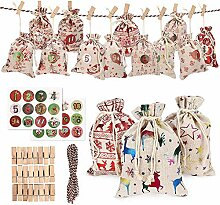 DIY Adventskalender Cloth Bag-24 Adventszahlen