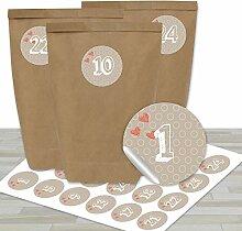 DIY Adventskalender zum Befüllen - mit 24 braunen